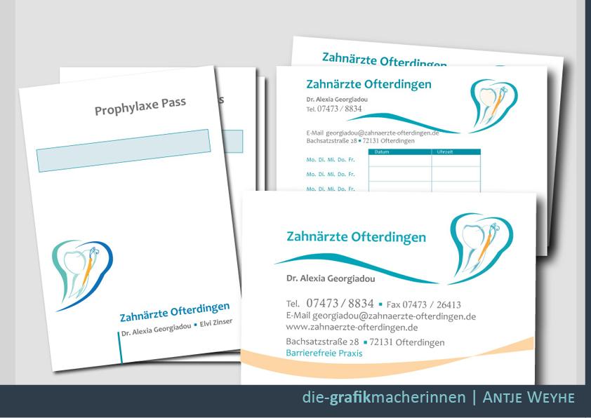 Briefbogen Visitenkarten Gestaltung