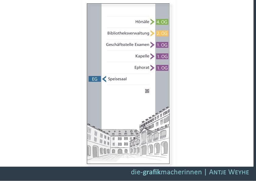 Öffentliche Gebäude Schilder und Wegweiser Tübingen