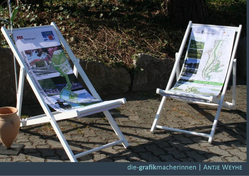 Textildesign für Liegestühle in Tübingen